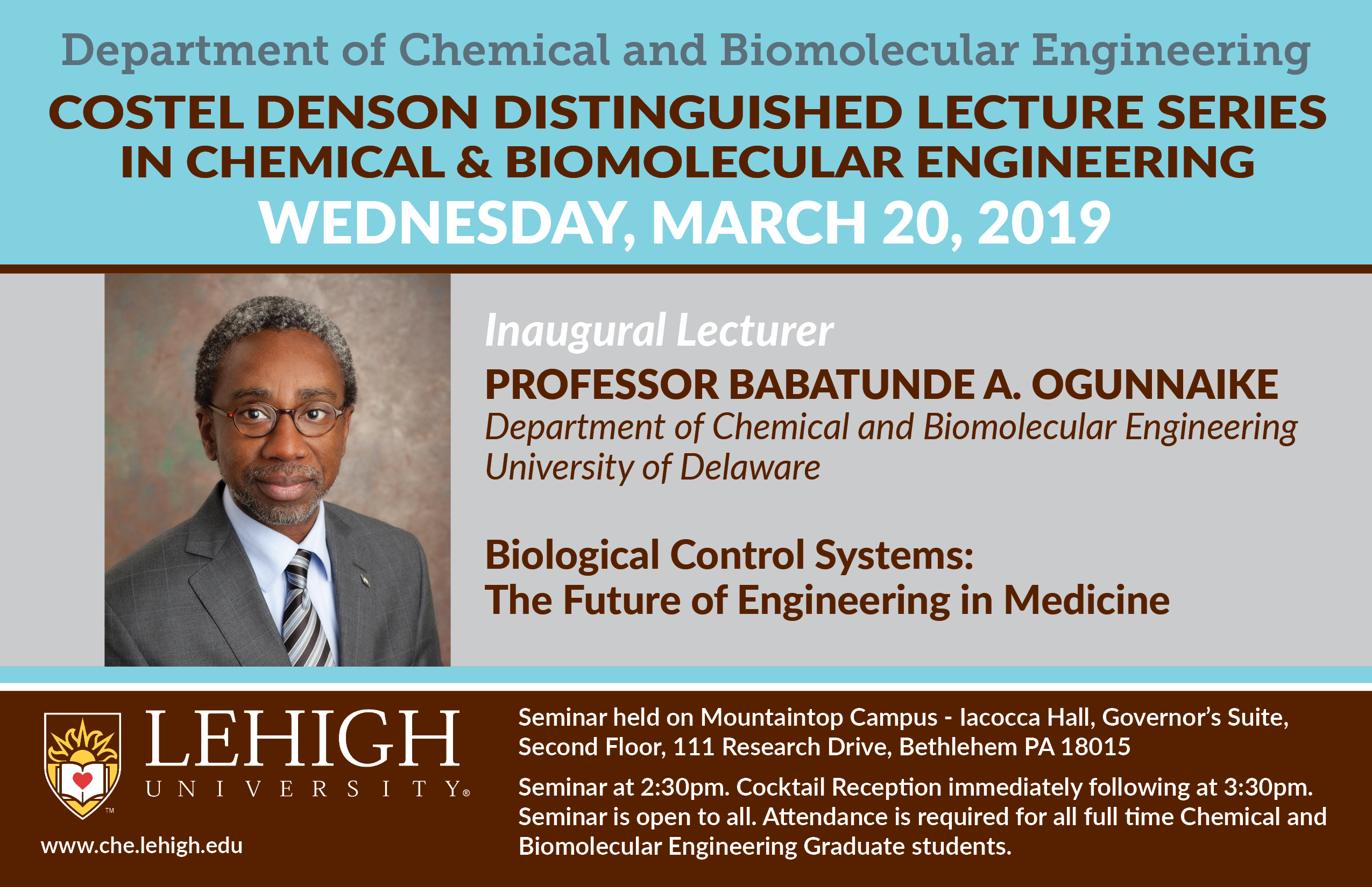 Costel Denson Distinguished Lecture Series