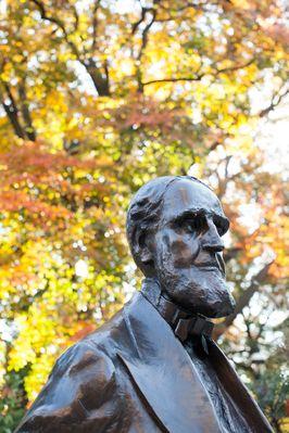 Bronze statue of Asa Packer