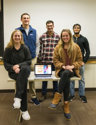 The students behind the MS Together app
