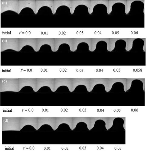 experimental images for 3D initial perturbation