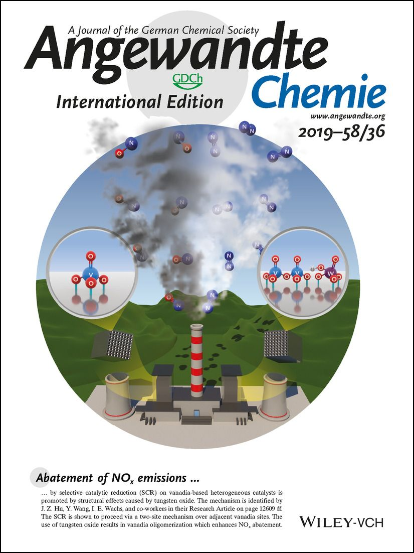 Cover of Angewandte Chemie International Edition 2019—58/36