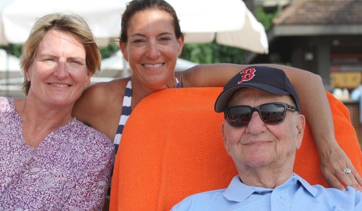 Lee Iacocca with daughters, from left, Kathryn Iacocca Hentz and Lia Iacocca Assad