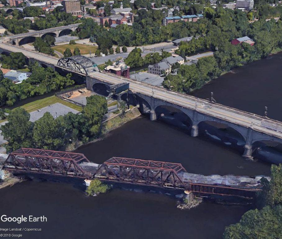 Bridges over the Lehigh River in Bethlehem PA