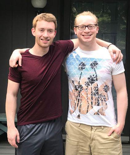 Corey Caplan '18 and Adam Knuckey '18