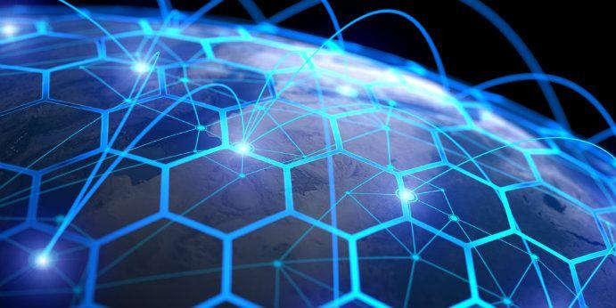 Conceptual rendering of global communications systems. (Vertigo3d)