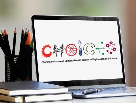 CHOICES logo on laptop screen