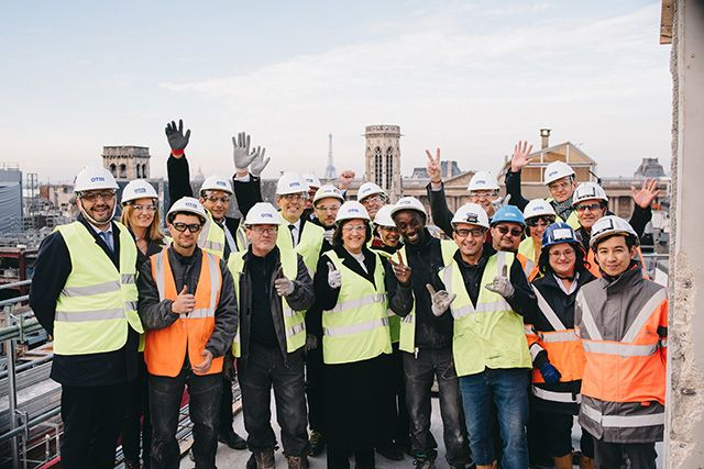The Otis team at the Samaritaine project in France