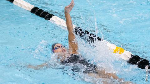 Anna Francisco swimming