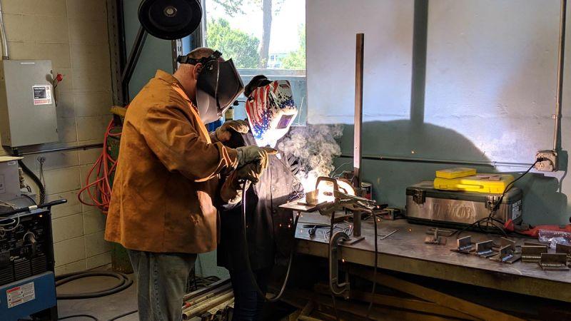 Materials Camp student welding