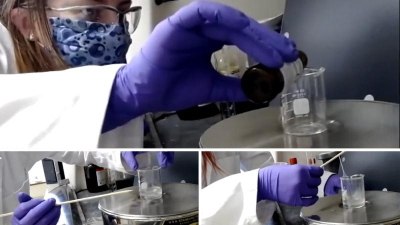 Screenshot of experiment demo