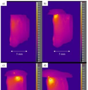 video frames of electric heating of glass