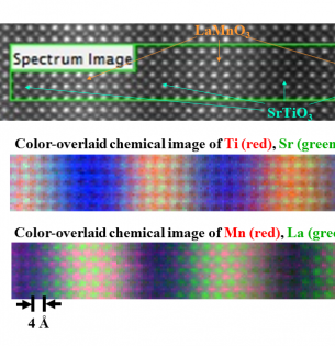 electron energy-loss image of a complex oxide multilayer sample