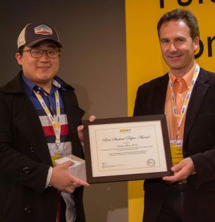 Youshan Zhang receives 2019 FICC best student paper award