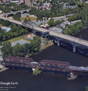 Bridges over Lehigh River in Bethlehem, PA