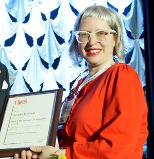 Natasha Vermaak receives award