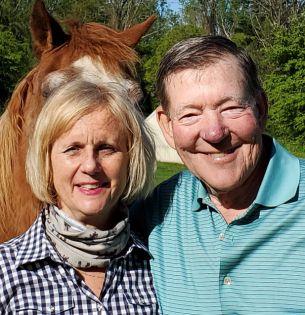 Sam Banks with his wife, Pamala.