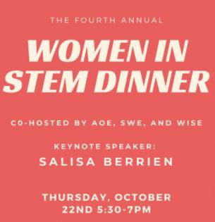 Women in STEM dinner invite
