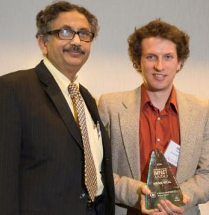 Professor Arup SenGupta and Mike German '17 Ph.D.