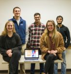 The student team behind the MS Together app.
