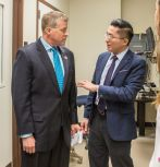 CPN director Nelson Tansu (right) with U.S. Rep. Charles Dent