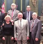 ISE faculty members and students pose for a photo in Harrisburg on the floor of the Pennsylvania Senate. (Photo courtesy Sen. Lisa Boscola)
