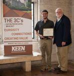 Matt Bilsky '12 '14G '17 Ph.D. left) and John Ochs. (Photo: Mary Anne Lynch '16G)