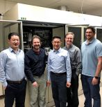 The Lehigh CPN team leading the design of the HPS-CVD includes (left to right) CPN scientific manager Renbo Song and Lehigh faculty members Volkmar Dierolf, Nelson Tansu, Jonathan Wierer, and Siddha Pimputkar. (Not shown: Nicholas Strandwitz.)