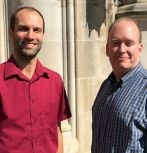 Left to right: Michael Spear and Brian Davison, associate professors of computer science and engineering at Lehigh University