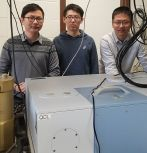 Left to right: Research contributors and ECE grad students Ji Chen, Liang Gao and Yuan Jin.