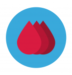 Blood droplets icon