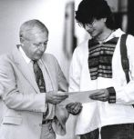 Donald Hillman with student