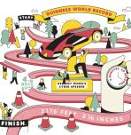 toy race car track world record illustration