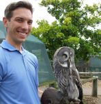Justin Jaworski with owl