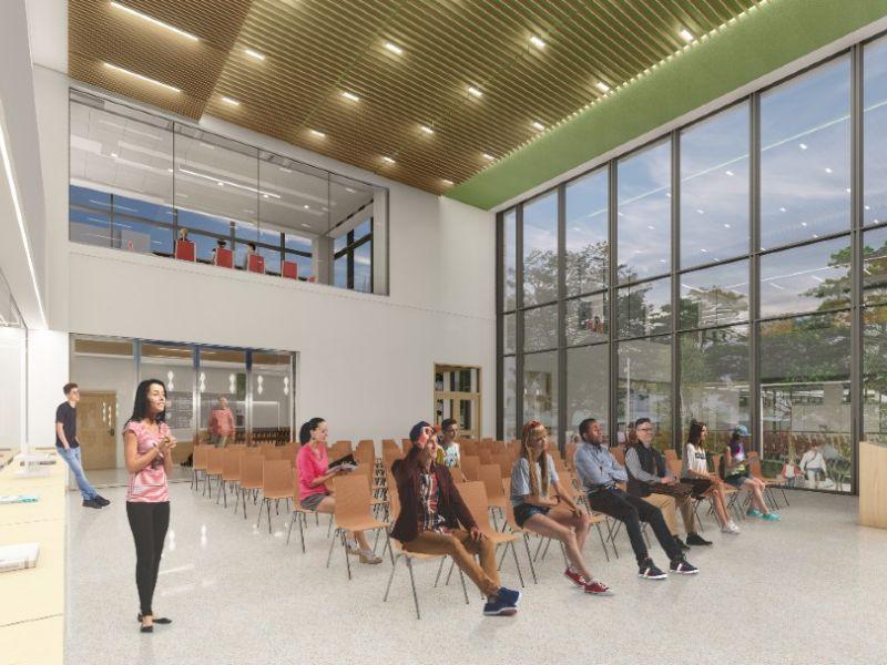 Rendering of HST building meeting space