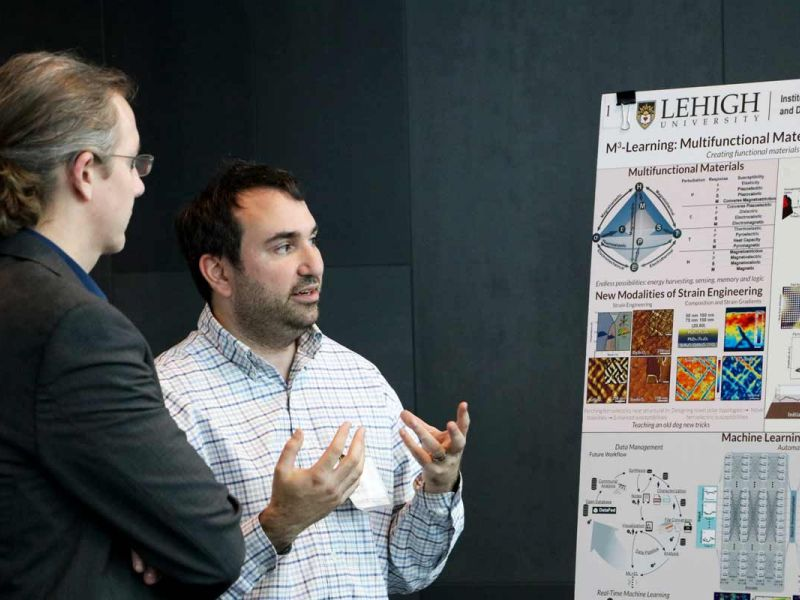 Researchers at poster session