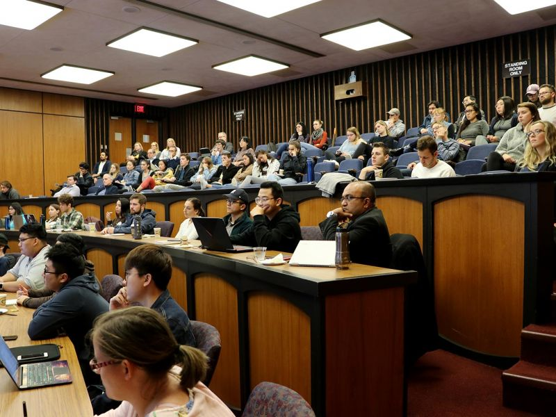 Lecture attendees