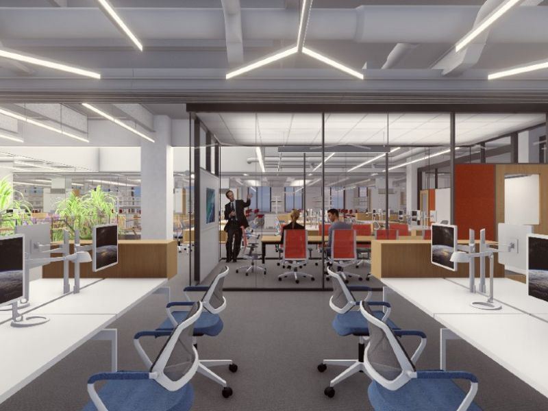 Rendering of HST building computer lab
