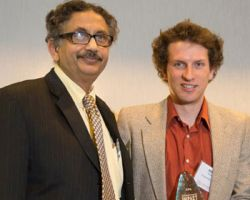 Professor Arup SenGupta and Mike German '17 Ph.D.